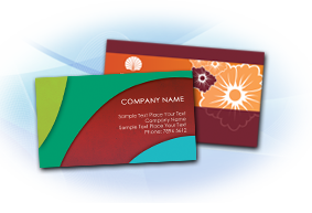 high gloss UV business card printing
